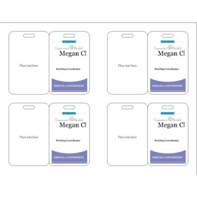 Event name Badge, Purple Border, 3 per sheet, 74554