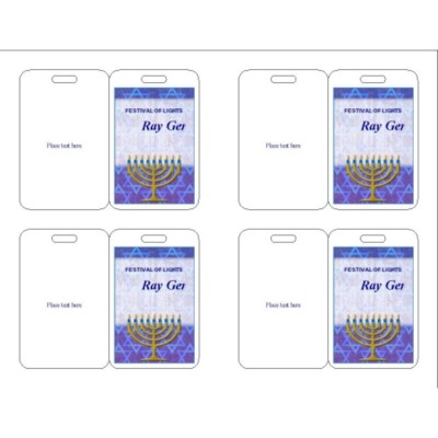 Hanukkah Name Badge, 3 per sheet, 74554