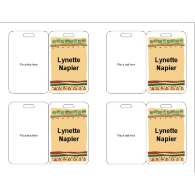 Celebration Name Badge, Peach Background, 3 per sheet, 74554