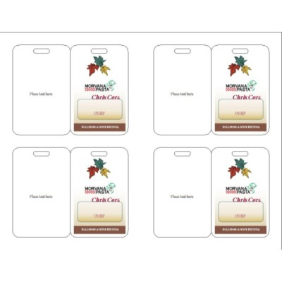 Fall Event Name Badge, 3 per sheet, 74554