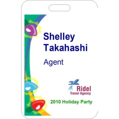Winter Event Name Badge, 3 per sheet, 74554