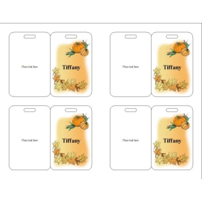 Thanksgiving Event Name Badge, 3 per sheet, 74554