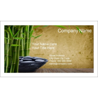 Templates Well Being Business Card 10 per sheet for