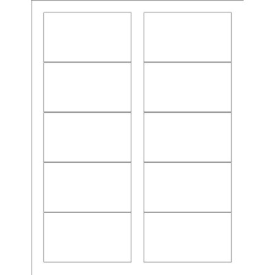 Templates Business Card With Center Margin Wide  Per Sheet Avery