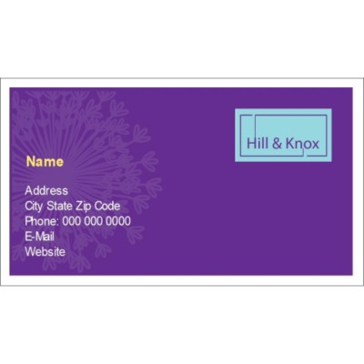 Templates Purple Background Business Cards with Center