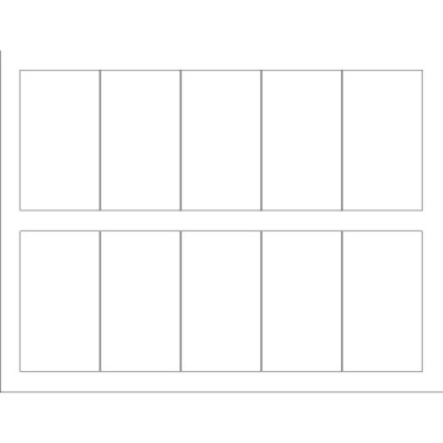 Templates Business Card With Center Margin Tall  Per Sheet Avery