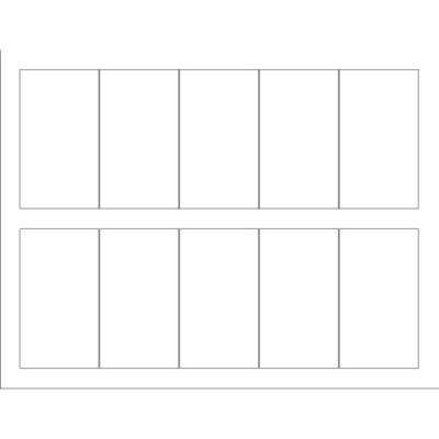 Templates - Business Card with center margin Tall, 10 per sheet ...