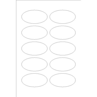 Oval Labels, 10 per 4 x 6 sheet