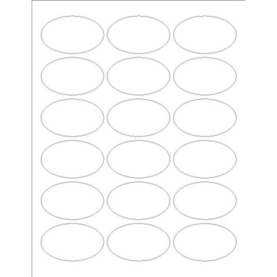 Print-to-the-Edge Oval Labels, 18 per sheet