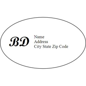 Templates monogram oval labels 18 per sheet avery for Avery template 6583