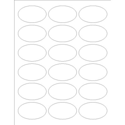 Oval Labels, 18 per sheet