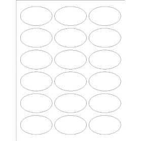 templates oval labels 18 per sheet avery With avery template 6583