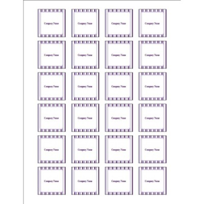 Classic Purple Stripes Square Labels, 24 per sheet