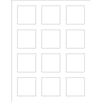Templates Print To The Edge Square Labels 12 Per Sheet