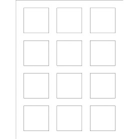 word label template 12 per sheet - templates print to the edge square labels 12 per sheet