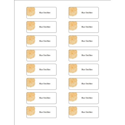 Orange Flower Organization Labels, 16 per sheet