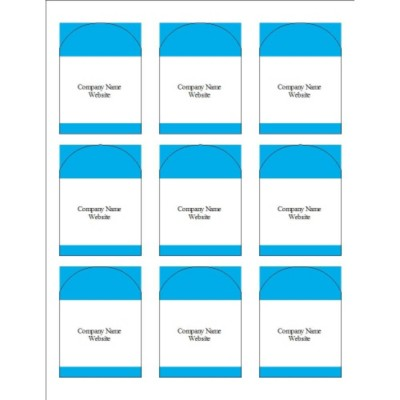 Blue Bars Arched Labels, 9 per sheet