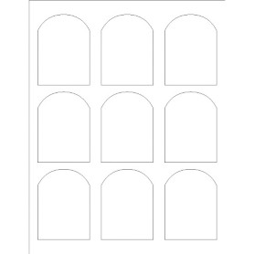 templates print to the edge arched labels avery