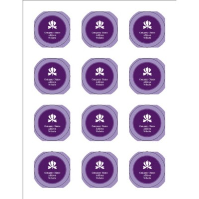 Classic Purple Print-to-the-Edge Round Labels, 12 per sheet