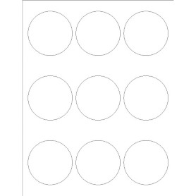 Templates print to the edge round labels 9 per sheet for Avery dennison label templates