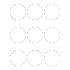 Templates glossy print to the edge round labels 9 per for Avery blank templates for microsoft word