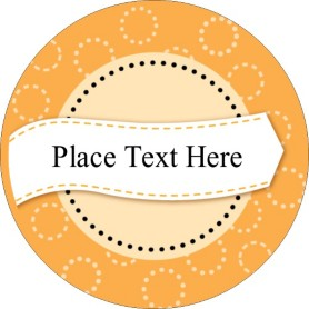 Templates orange dotted circles print to the edge round for Avery 2 round label template
