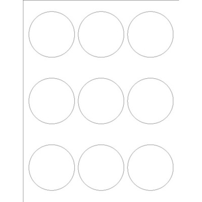 Templates Glossy Print To The Edge Round Labels 9 Per