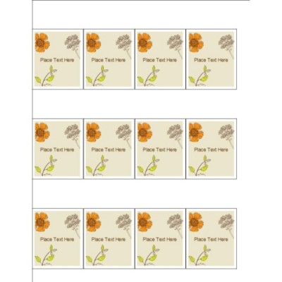 Simple Garden Shelf Tags, 12 per sheet