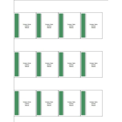 Green and Grey Bar Side Shelf Tags, 12 per sheet