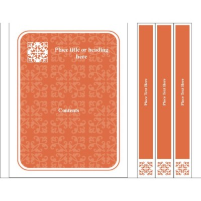 Autumn Flourishes Binder Cover & Spine Insert for Small Format Binders