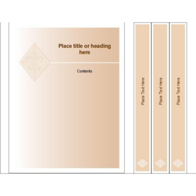 Beige Design Binder Cover & Spine Insert for Small Format Binders
