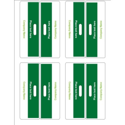 Green Bar Bag Toppers, 4 per sheet