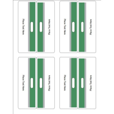 Green and Grey Bar Bag Toppers, 4 per sheet