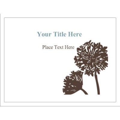 Brown Tree Removable Window Signage, 1 per sheet