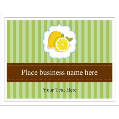 Old-Fashioned Lemons Design Window Signage, 1 per sheet