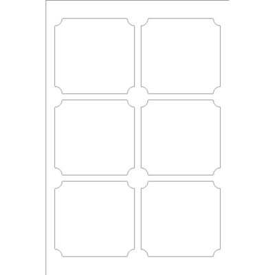Martha Stewart Home Office with Avery Removable Classic Shape Label, 6 per 4x6 sheet