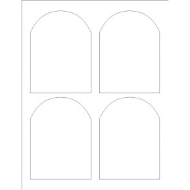 avery blank templates for microsoft word - templates print to the edge arched labels 4 per sheet