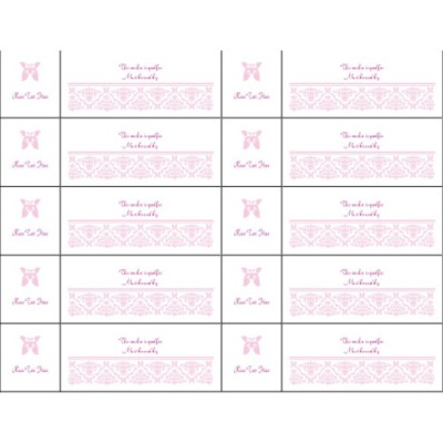Valentine's Day Toile Design Tickets with Stub on Left, 10 per sheet