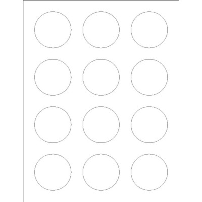 Round Foil Labels, 12 per sheet