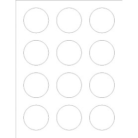 Templates round foil labels 12 per sheet avery for Avery blank templates for microsoft word
