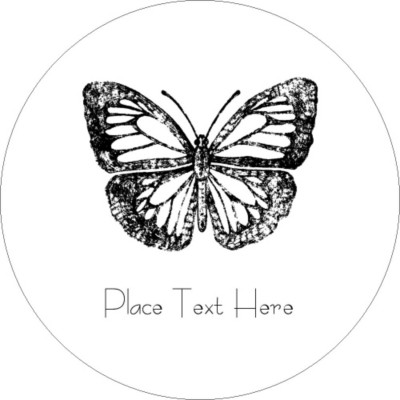 butterfly labels templates