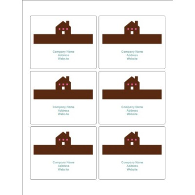 Simple Home Print-to-the-Edge Pearlized Rectangle Labels , 6 per sheet