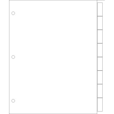 Print-On Wide-Format Dividers 8-Tab - Portrait