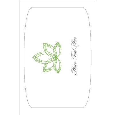 "Lotus Flower Print-to-the-Edge Arched Rectangle Label, 1 Per 4 x6"" Sheet"