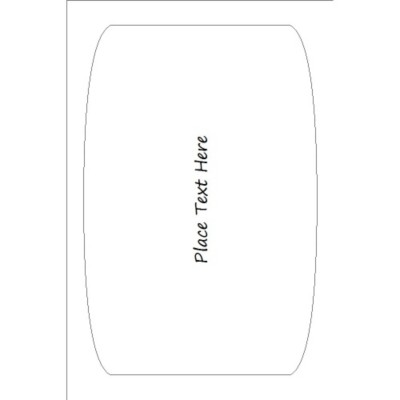 "Text Only Print-to-the-Edge Arched Rectangle Label, 1 Per 4 x6"" Sheet"
