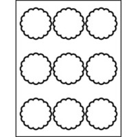 avery dennison labels templates - templates scallop round labels 9 per sheet avery