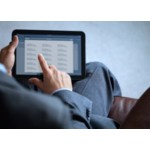 Businessman Using Avery Templates Everywhere on iPad