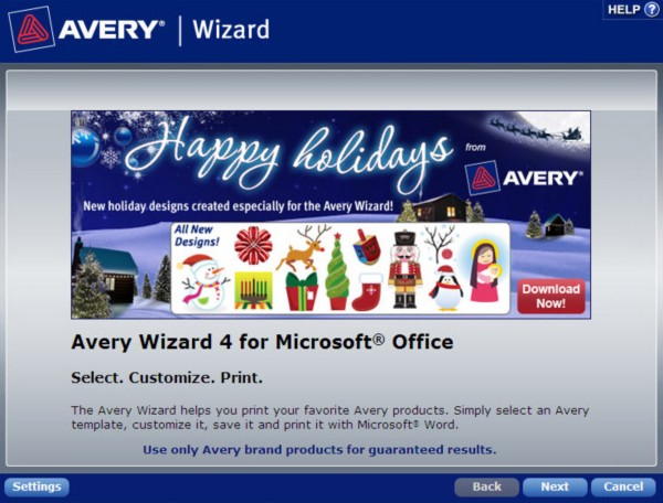 How to Find a Template in the Avery Wizard Software for ...