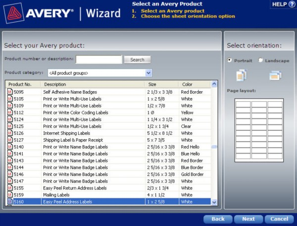 avery templates and software - how to find a template in the avery wizard software for