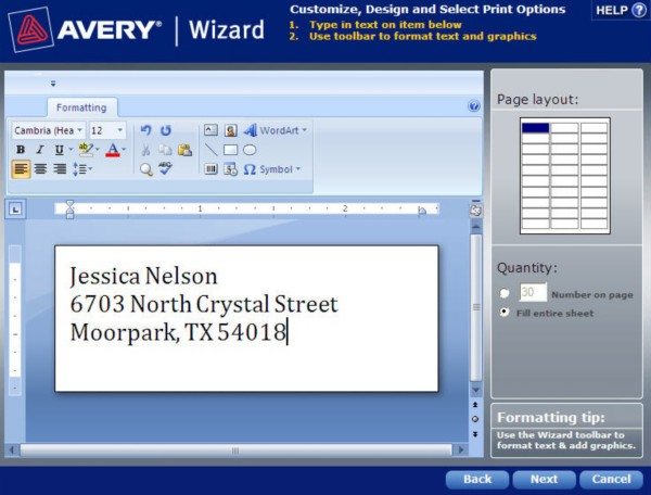avery templates and software how to save a template in avery wizard software for
